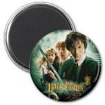 Harry Potter Ron Hermione Dobby Group Shot 2 Inch Round Magnet