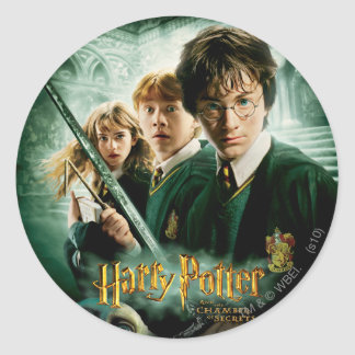 Harry Potter Ron Hermione Dobby Group Shot Classic Round Sticker