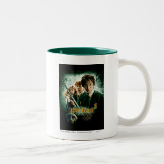 Harry Potter Ron Hermione Dobby Group Shot Two-Tone Coffee Mug