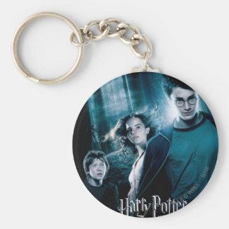 Harry Potter Ron Hermione en bosque Llavero Redondo Tipo Pin