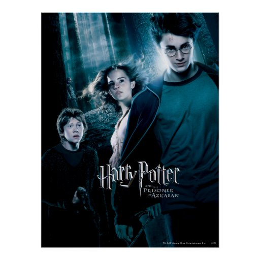 Harry Potter Ron Hermione In Forest Print