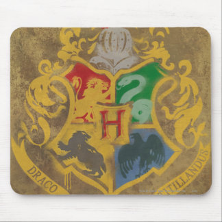 Harry Potter | Rustic Hogwarts Crest Mouse Pad