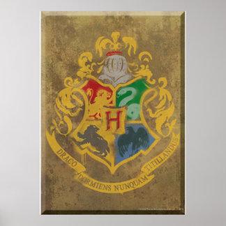 Harry Potter | Rustic Hogwarts Crest Poster