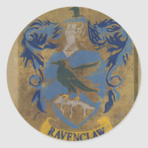Harry Potter   Rustic Ravenclaw Painting Classic Round Sticker
