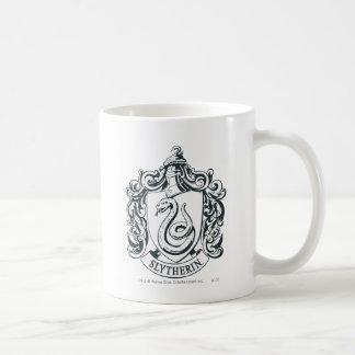 Harry Potter | Slytherin Crest - Black and White Coffee Mug