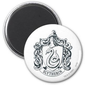 Harry Potter | Slytherin Crest - Black and White Magnet