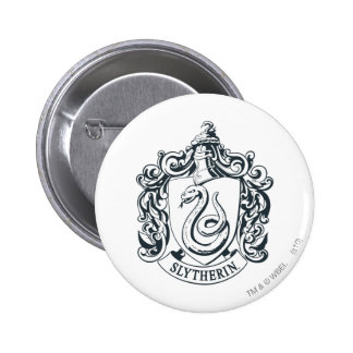 Harry Potter | Slytherin Crest - Black and White Pinback Button