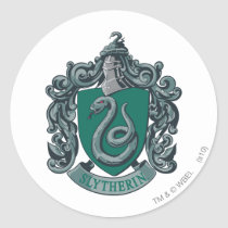 Harry Potter | Slytherin Crest Green Classic Round Sticker