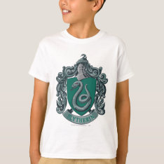 Harry Potter | Slytherin Crest Green T-shirt at Zazzle