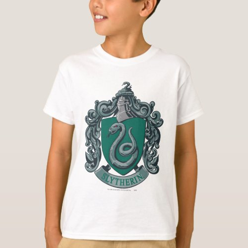 Harry Potter  Slytherin Crest Green T_Shirt