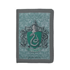 Harry Potter | Slytherin Crest Green Trifold Wallets at Zazzle