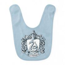 Harry Potter | Slytherin Crest - Ice Blue Baby Bib
