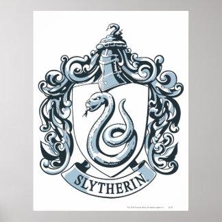 Harry Potter | Slytherin Crest - Ice Blue Poster