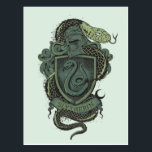 "Harry Potter  | Slytherin Crest Postcard<br><div class=""desc"">Show your dark side with this vintage graphic of Salazar Slytherins serpent wrapped around the Slytherin house crest. Supporters of the dark arts and those that strive for greatness will love this chilling design from the magical world of Harry Potter. If you&#39;re a follower of the Dark Lord but aren&#39;t...</div>"