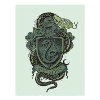 Harry Potter  | Slytherin Crest Postcard