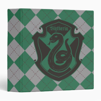 Harry Potter | Slytherin House Pride Crest 3 Ring Binder