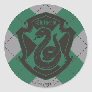 Harry Potter | Slytherin House Pride Crest Classic Round Sticker