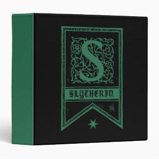 Harry Potter   Slytherin Monogram Banner 3 Ring Binder
