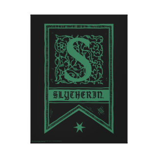 Harry Potter | Slytherin Monogram Banner Canvas Print