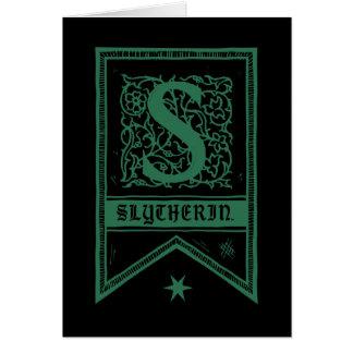 Harry Potter | Slytherin Monogram Banner Card