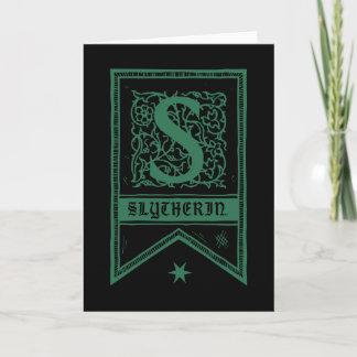 Harry Potter | Slytherin Monogram Banner Note Card