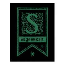 Harry Potter   Slytherin Monogram Banner Postcard