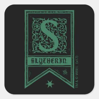 Harry Potter | Slytherin Monogram Banner Square Sticker