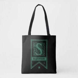 Harry Potter | Slytherin Monogram Banner Tote Bag