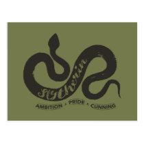 Harry Potter | SLYTHERIN™ Silhouette Typography Postcard
