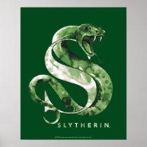 Harry Potter | SLYTHERIN™ Snake Watercolor Poster