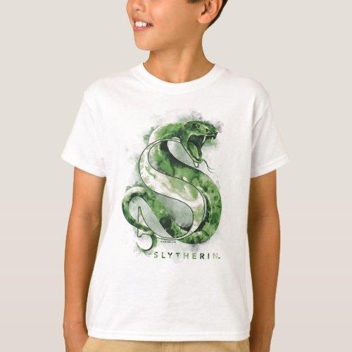 Harry Potter  SLYTHERINâ Snake Watercolor T_Shirt
