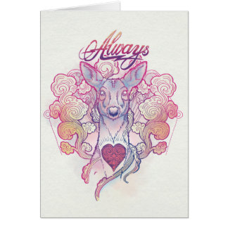 "Harry Potter Spell | ""Always"" Doe Patronus Card"