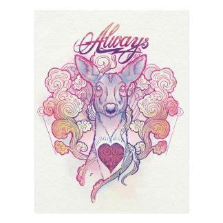 "Harry Potter Spell | ""Always"" Doe Patronus Postcard"