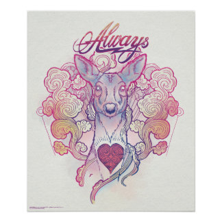 "Harry Potter Spell | ""Always"" Doe Patronus Poster"