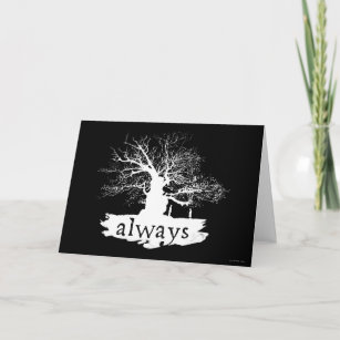 harry potter spell always quote silhouette card