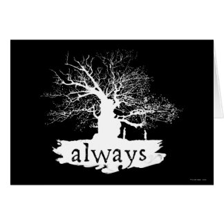 Harry Potter Spell | Always Quote Silhouette Card