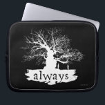 "Harry Potter Spell | Always Quote Silhouette Computer Sleeve<br><div class=""desc"">A heart-breaking quote from Harry Potter that struck a chord with millions of fans. The love Severus Snape held for Lily Potter perfectly preserved, not in a pensive, but in this silhouette design with a white, shadow tree backdrop. From The Deathly Hallows finale right into your home. A beautiful reminder...</div>"