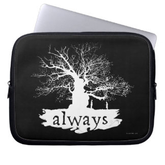Harry Potter Spell   Always Quote Silhouette Computer Sleeve