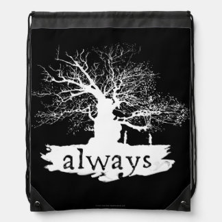 Harry Potter Spell | Always Quote Silhouette Drawstring Bag