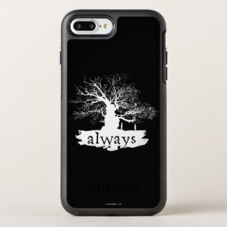 Harry Potter Spell   Always Quote Silhouette OtterBox Symmetry iPhone 8 Plus/7 Plus Case