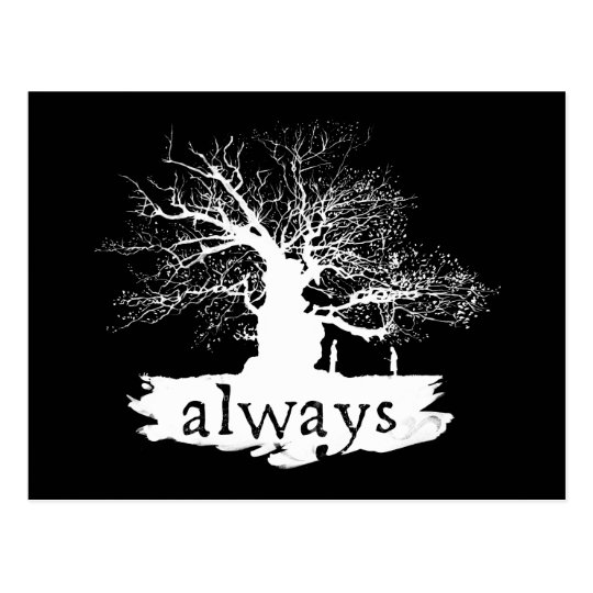 Harry Potter Spell | Always Quote Silhouette Postcard ...