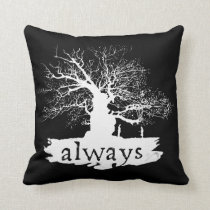 Harry Potter Spell   Always Quote Silhouette Throw Pillow