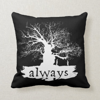 Harry Potter Spell | Always Quote Silhouette Throw Pillow