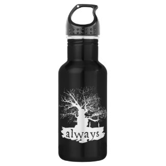 Harry Potter Spell | Always Quote Silhouette Water Bottle