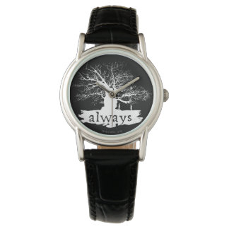 Harry Potter Spell | Always Quote Silhouette Wristwatch