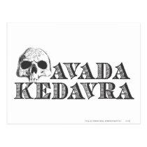 Harry Potter Spell   Avada Kedavra Postcard