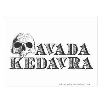 Harry Potter Spell | Avada Kedavra Postcard