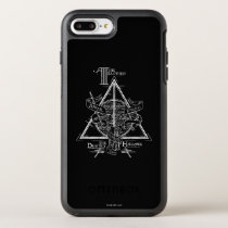 Harry Potter Spell   DEATHLY HALLOWS Graphic OtterBox Symmetry iPhone 8 Plus/7 Plus Case