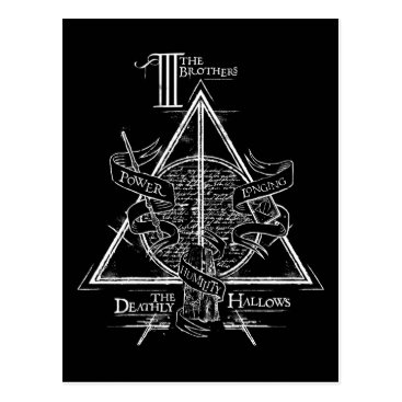 harrypotter Harry Potter Spell | DEATHLY HALLOWS Graphic Postcard