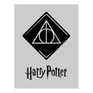 Harry Potter Spell | Deathly Hallows Icon Postcard